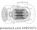 electric motor vector 44855671