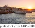 Istanbul skyline at sunset, Turkey 44859080