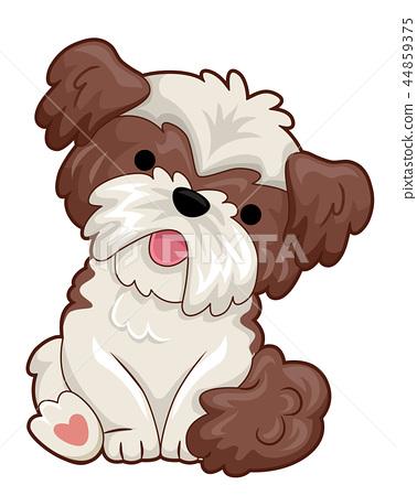 Small Dog Illustration 44859375