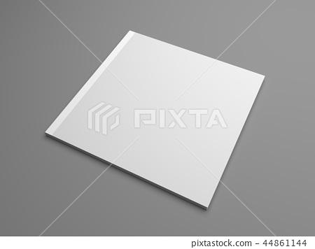 Square 3D illustration brochure cover mock-up. 44861144