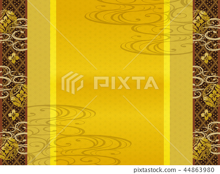 Japanese pattern background material (horizontal direction) 44863980