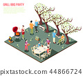 party, barbecue, art 44866724