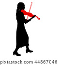 Silhouettes a musician violinist playing  violinon 44867046