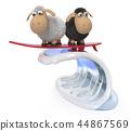 3d, illustration, sheep 44867569