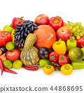 Fruit and vegetable isolated on white background 44868695