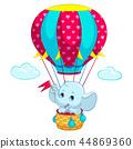 elephant, baby, balloon 44869360