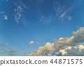 파란 하늘과 뭉게 구름 44871575