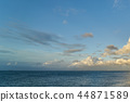 파란 하늘과 뭉게 구름, 푸른 바다 44871589