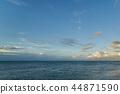 파란 하늘과 뭉게 구름, 푸른 바다 44871590