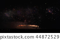 Colorful fireworks on the black sky background 44872529
