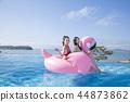 Summer Vacation of beautiful women,having fun in the water 230 44873862