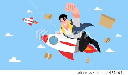 Concept for express delivery service, Courier and delivery man character vector illustration. 009 44874034