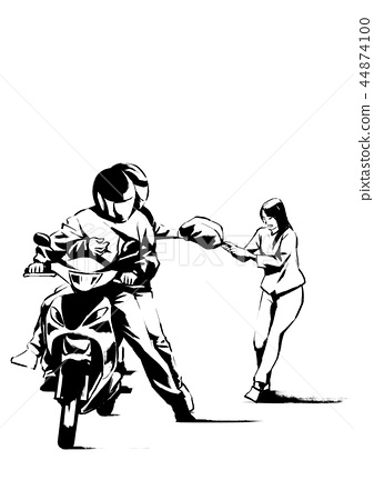 Vector - illustration of different domestic violence situations in this society. Hand drawn black on white background. 010 44874100