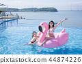 Summer Vacation of beautiful women,having fun in the water 178 44874226