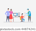 Vector - various renting products, water purifier, mattress, car, massage chair and so on vector illustration. it can be inspected and serviced regularly by companies. 009 44874241