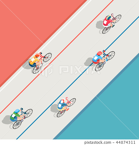 Vector - Aerial view of sport games in flat design style illustration 009 44874311