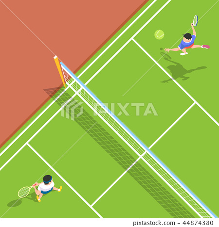 Vector - Aerial view of sport games in flat design style illustration 005 44874380