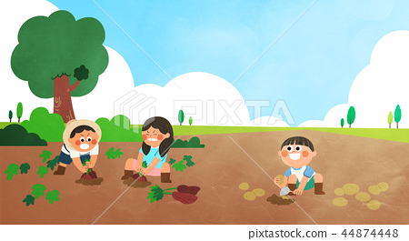 Various activities for children during summer vacation vector illustration 009 44874448