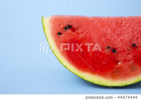 Delicious summer fruits object photo, tomato, oriental melon and watermelon 107 44874449