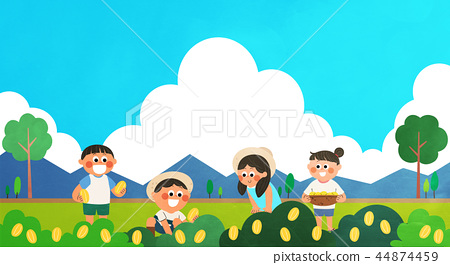 Various activities for children during summer vacation vector illustration 006 44874459