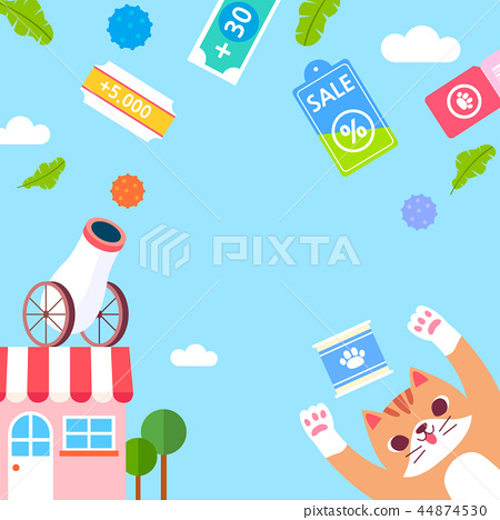 Online shopping of Pet accessories, E-shopping Concept vector illustration 009 44874530