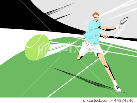 Various sports players with dynamic colorful scratched vector illustration 022 44874540