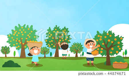 Various activities for children during summer vacation vector illustration 011 44874671