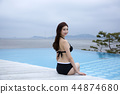 Summer Vacation of beautiful women,having fun in the water 083 44874680