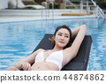 Summer Vacation of beautiful women,having fun in the water 011 44874862