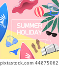 Summer Holiday concept template- vector illustrations 44875062