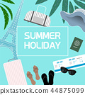 Summer Holiday concept template- vector illustrations 44875099