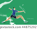 Popular Olympic Sports - badminton 44875202