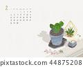 仙人掌 日曆 月曆 44875208