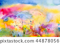 Splatters and stains on white paper 44878056