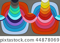 Abstract composition - colored stripes 44878069