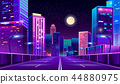 city, night, neon 44880975