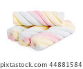 marshmallows candy isolated on white background 44881584