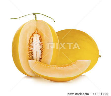 cantaloupe melon on white background 44881590
