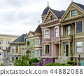traditional victorian houses in San Francisco 44882088