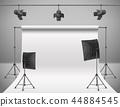 empty photo studio with equipment 44884545
