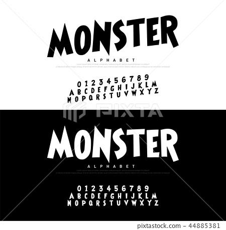 Typography Comic Cartoon Alphabet Scary Font 44885381