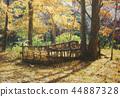 Autumn landscape painting of Shinjuku Gyoen 44887328