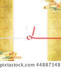 日日风格 - 日本图案 - 背景 - 日本纸 - 秋 - 秋叶 - 金 - 水 -   -  Noji纸 44887348