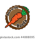 Badge with a carrot 44888095