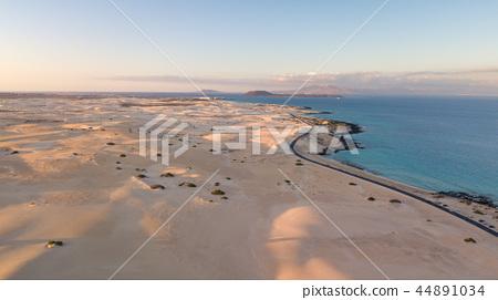 aerial view of fuerteventura coast 44891034