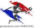 soccer, player, ball 44891091