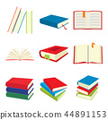 book, icon, set 44891153