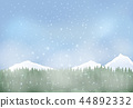 Winter landscape with snowy background.  44892332