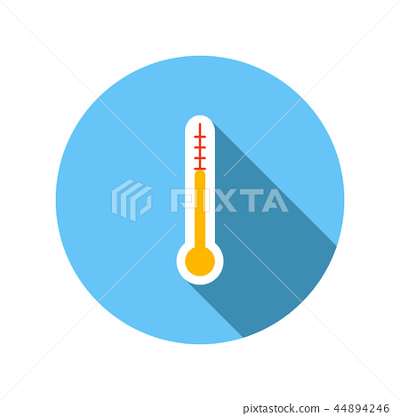 Outdoor thermometer flat icon 44894246