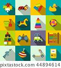toy, flat, set 44894614